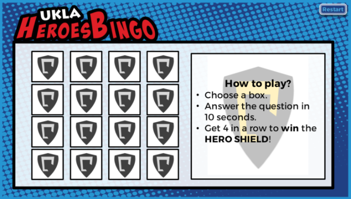 How to use Bingo game in a creative way